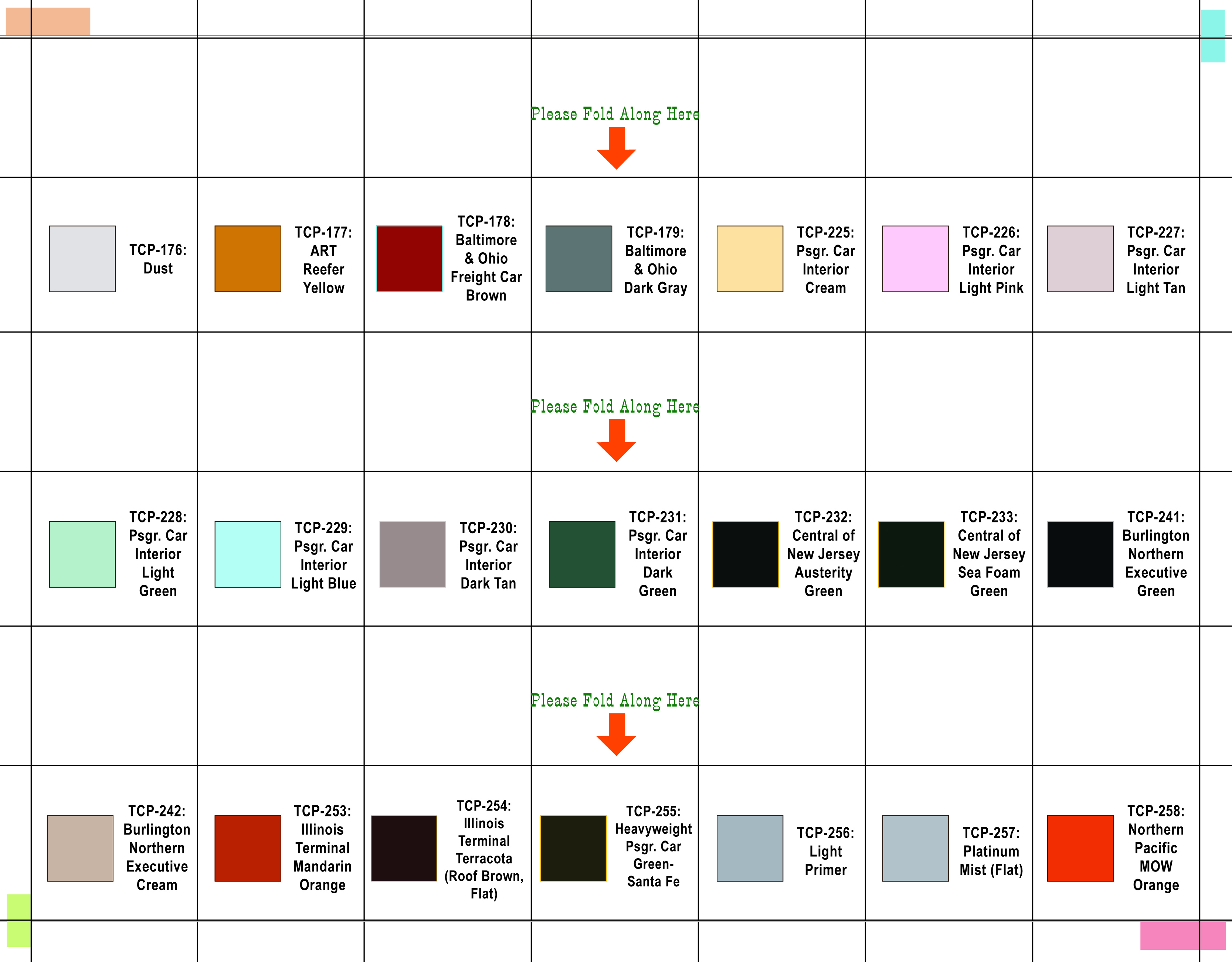 Color Charts – Sample General Color Chart